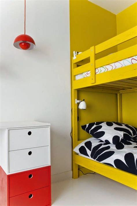 hacker bedroom mommo design ikea hacks for kids yellow mydal bunkbed