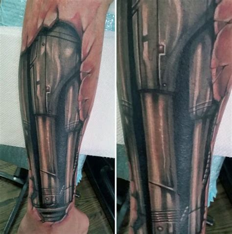 biometric tattoos 60 terminator designs for manly mechanical