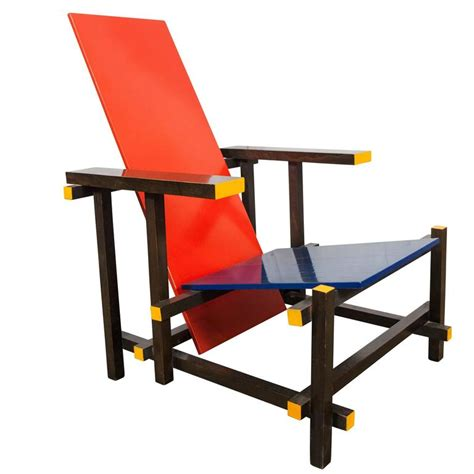 Rietveld Armchair by Gerrit Rietveld Blue Chair By Cassina Italy 1980 At
