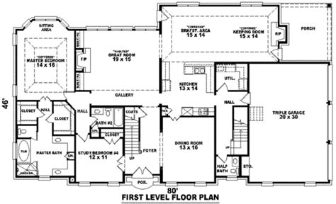 How Big Is 3500 Square Feet | best of 3500 sq ft ranch house plans new home plans design