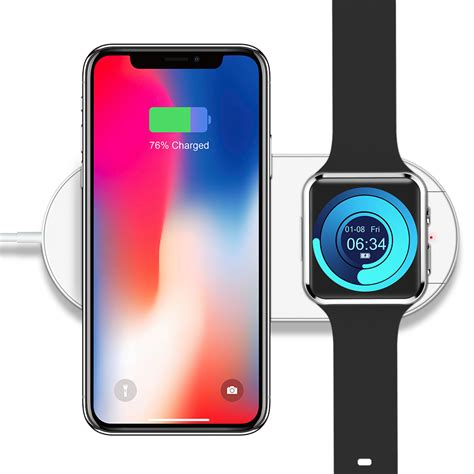 floveme 10w 7 5w mini qi fast charging wireless charger for iphone xr xs for iwatch 2 3 note 9