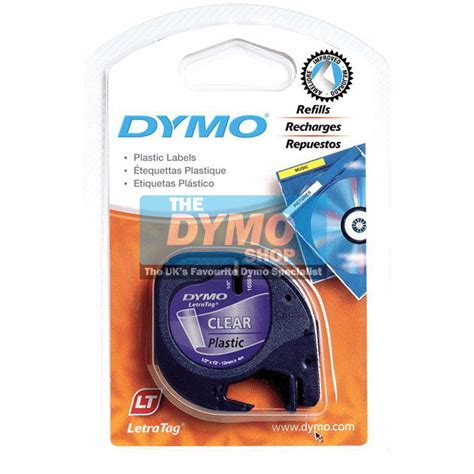 Label Letratag Dymo Plastic Clear Dymo Letratag dymo 12mm black on clear letratag 12267 dymo label printers from the dymo shop