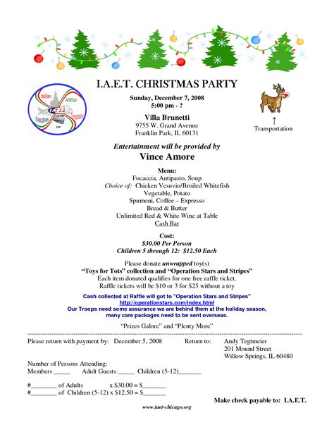 sample office holiday party invitations