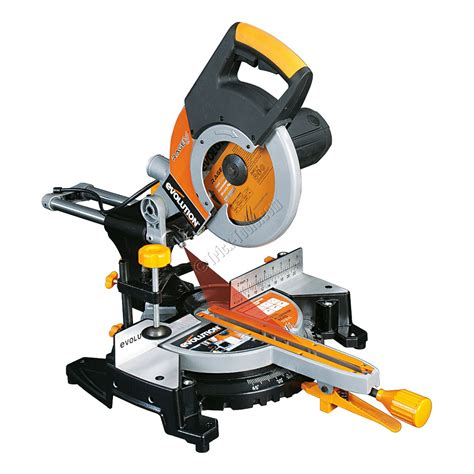 afkortzaag voor metaal en hout evolution rage 3 metal cutting miter saw rage3