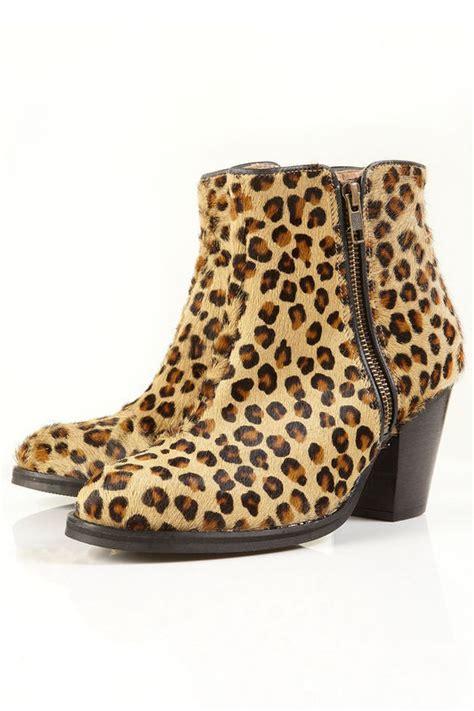 Cheetah Print Duvet Topshop Ambush Leopard Print Brushed Suede Zip Ankle Boots