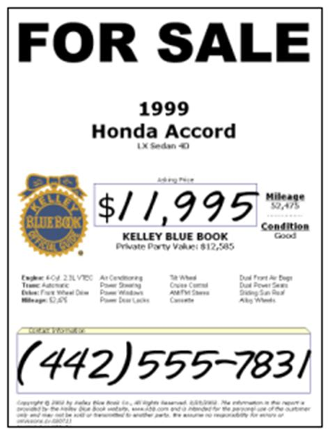 used car window sticker template kelley blue book used cars for sale image 2