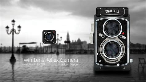 wallpaper camera tlr twin lens reflex camera icon design by viperboy15 on