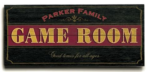 personalized game room planked sign or design your own sign