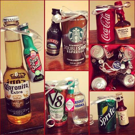 diy alcohol gifts tiny size coronita and lime baileys