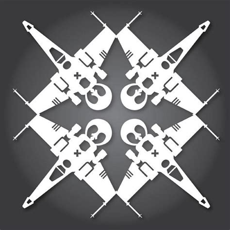 wars snowflake templates 60 free paper snowflake templates wars style