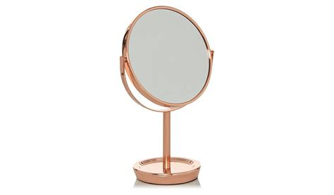 Copper Bathroom Mirrors Copper Metal Mirror Home Garden George At Asda