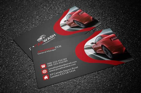 car business card templates free car wash business card business card templates on