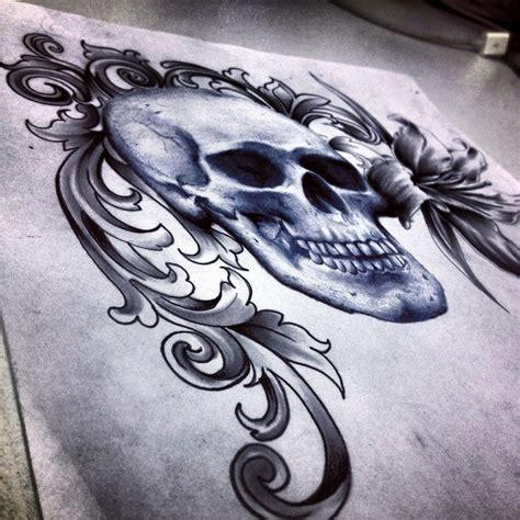 tattoo filigree designs deviantart more like skull