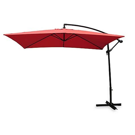Rectangular Offset Patio Umbrella Offset Rectangular Patio Umbrella Buy Rectangular Offset Umbrella In Salsa From Bed Bath