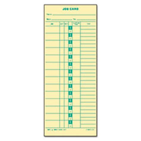 employee punch card template top1258 tops 174 time card for cincinnati lathem simplex