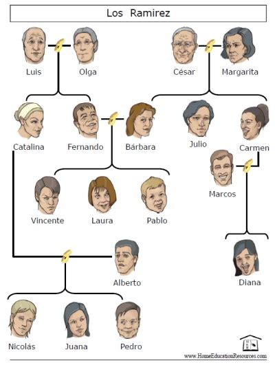 printable family tree in spanish spanish family matters activity set printable spanish