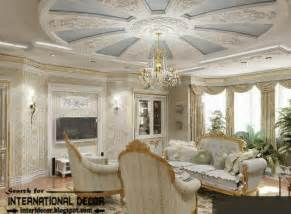Gypsum board ceiling for classic interior design