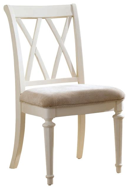 White Painted Dining Chairs American Drew Camden Light Splat Side Chair In White Painted Traditional Dining Chairs By