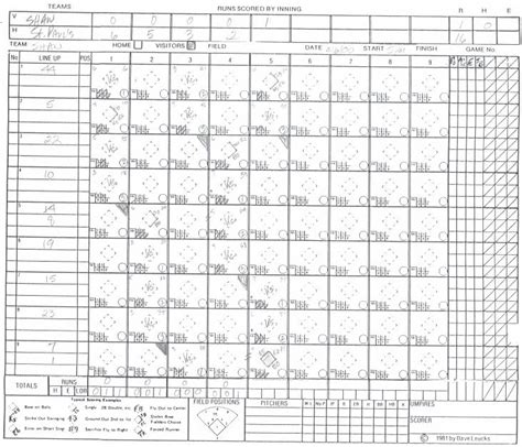softball score sheet template baseball score sheet