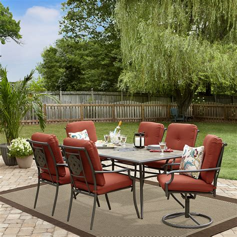 garden oasis brookston  piece dining set terracotta limited availability outdoor living