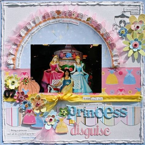 scrapbook layout princess princess in disguise by sstringfellow scrapbook disney