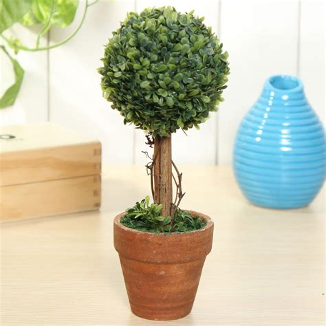 artificial potted plant plastic garden grass ball topiary
