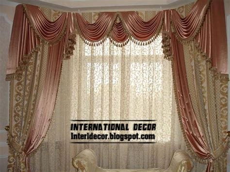 Contemporary curtain design with satin drapes latest curtain designs