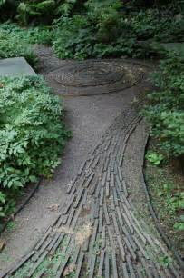garden path with lath wood on gravel if i had a green thumb but i