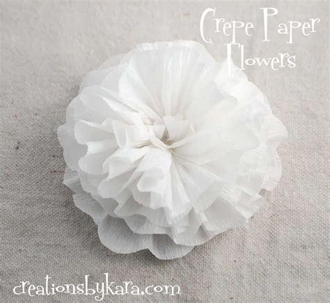 crepe paper flowers tutorial crepe paper flower tutorial creations by kara