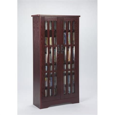 Media Storage Cabinets With Doors 48 Quot Media Storage Cabinet With Doors In Cherry M 371dc