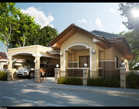 single storey small residential house home design