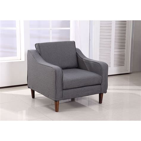 sofa chair living room furniture homcom sofa single arm chair armrest seat linen living room furniture ebay
