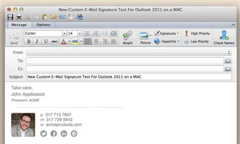 Manage Email Signatures For Mac With Xink Outlook Templates Mac