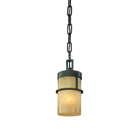 Bamboo Pendant Light Troy Lighting Bamboo 1 Light Bamboo Bronze With Slate Pendant F1847bb The Home Depot