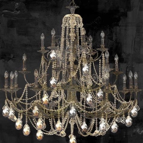Painting Of Chandelier Lit Chandelier Painting By Sommers