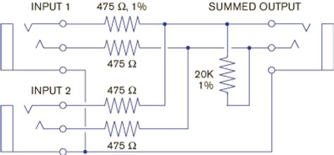 passive summing resistor values passive summing resistor values 28 images poor s gain make up stage geekslutz diy summing