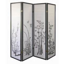 Screen Room Divider Ore International Floral 4 Panel Room Divider By Oj