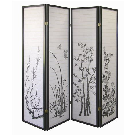 Ore International Floral 4 Panel Room Divider By Oj Panel Room Dividers