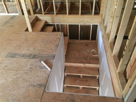 Garage Stairs Design Looking Stairs From Unfinished Bonus Room Above Garage Bonus Room Pinterest Bonus