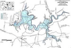 east fork lake fishing map southwest oh gofishohio