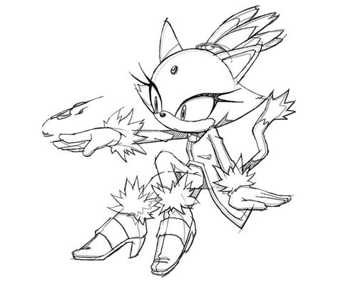 coloring pages blaze the cat sonic generations blaze the cat power surfing