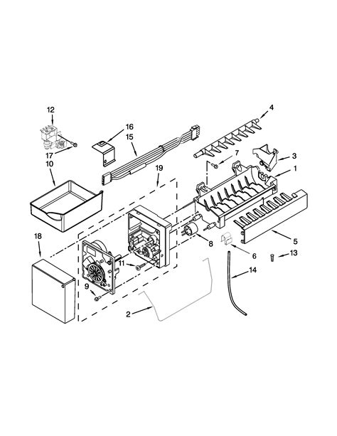whirlpool maker parts diagram maker parts diagram parts list for model