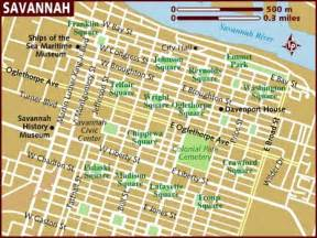 savanah map map of