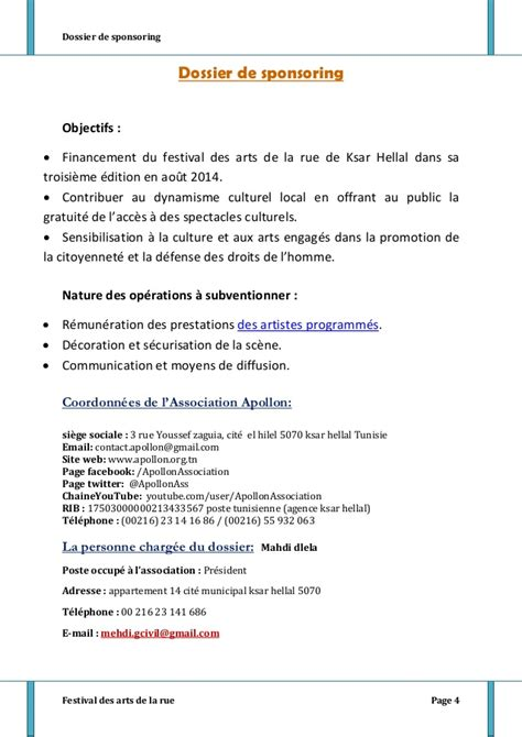 Modèles De Lettres De Sponsoring Dossier Sponsoring Final01062014
