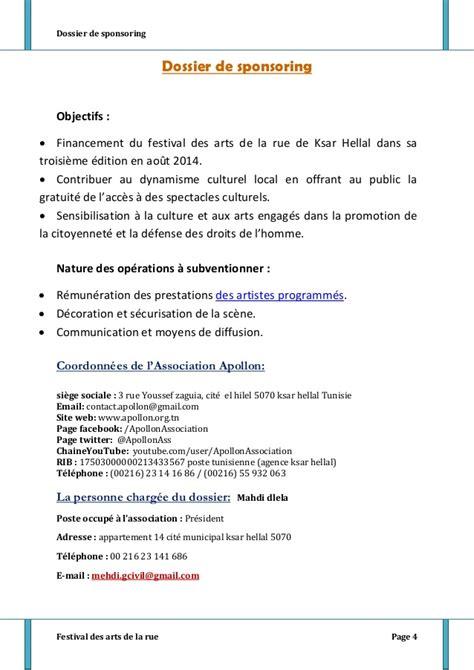 Demande De Sponsoring Lettre Gratuit Dossier Sponsoring Final01062014