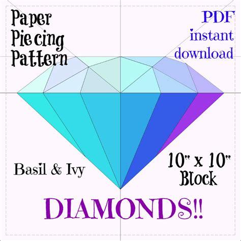 pattern allowances pdf nptel diamond paper piecing pattern by basil and ivy craftsy