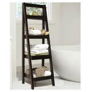 Bathroom Storage Ladder Jenlea 4 Tier Storage Ladder Bookcase Reviews Wayfair