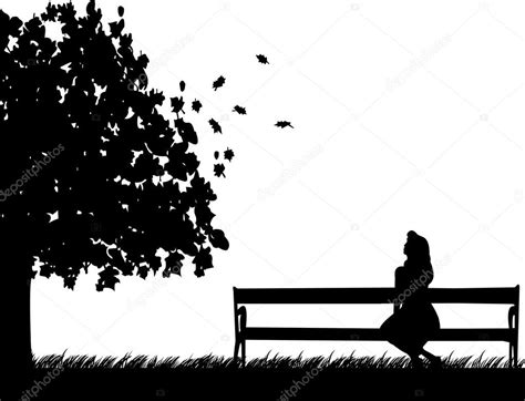 what is benching someone girl sitting on a park bench waiting for someone to fall or autumn silhouette