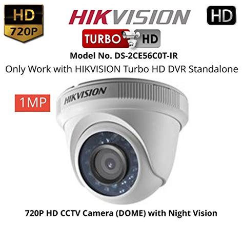 Cctv Outdoor Hd Turbo Hdtvi 1mp hikvision 16ch ds 7116hghi f1 mini turbo hd 720p dvr hikvision ds 2ce56c2t irp turbo dome