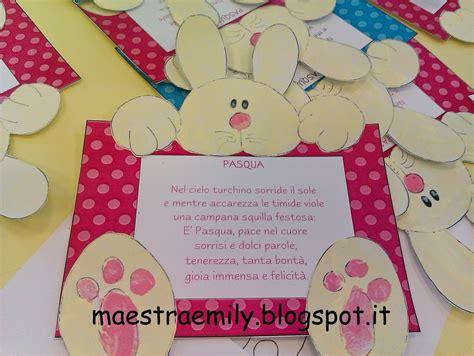 cornici regalo scuola infanzia bambini lavoretto pasqua coniglio
